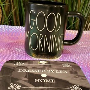 NEW 2019 Rae Dunn Black GOOD MORNING mug